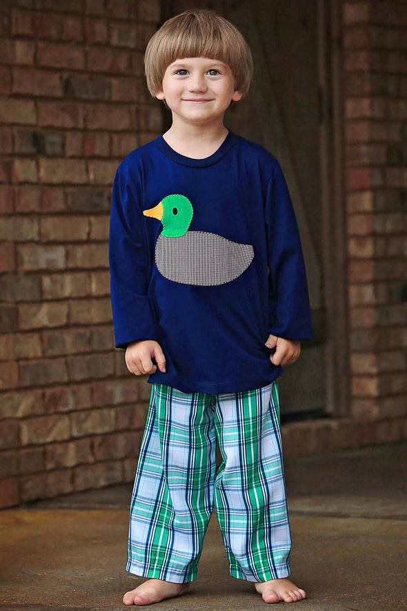 Duck Appliqué Boys Tee Set