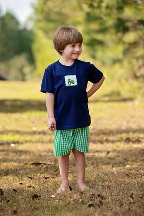 Tractor Smocked Boys Set