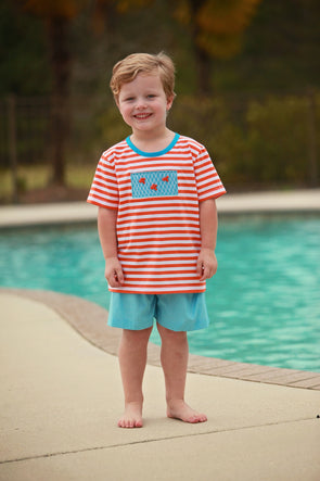 Geo Fish Stitched Boys Tee Set
