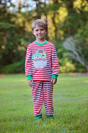 Cute & Comfy Santa Applique Unisex Christmas Morning Set