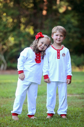 Cute & Comfy White Christmas Morning Boys Set