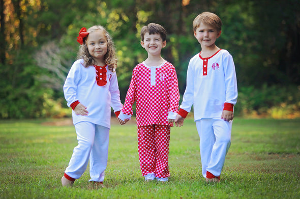 Cute & Comfy White Christmas Morning Girls Set