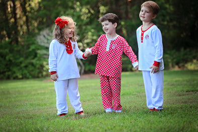 Cute & Comfy Red Check Christmas Morning Boys Set