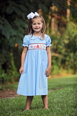 smocked dresses farm girl toddler birthday