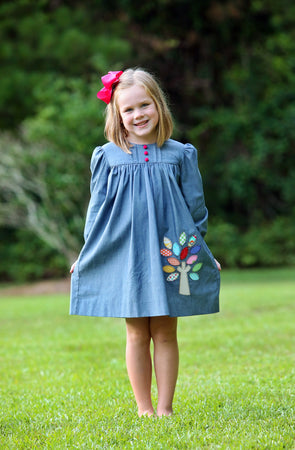 Vintage Tree Applique Dress