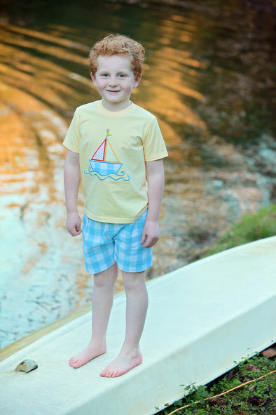Sailboat App Boys Tee Set
