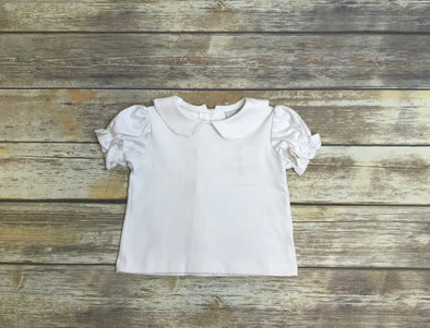 Girls White Knit Top