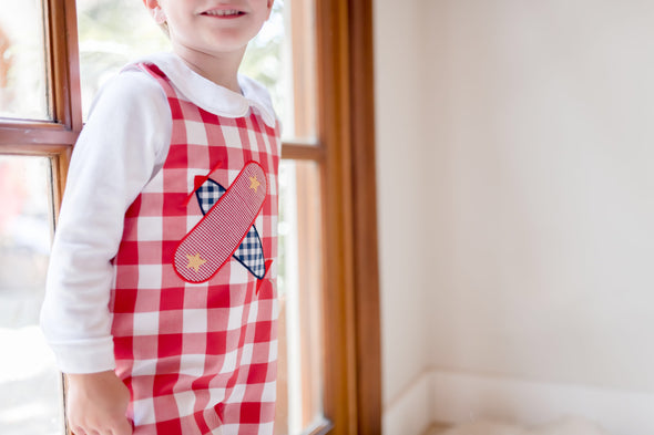 Airplane Applique Check Longall