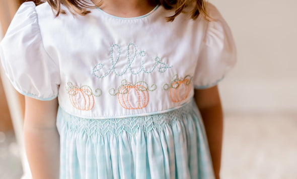 Embroidered Pumpkin Ella Dress
