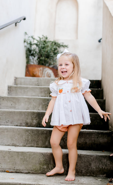 Classic Pumpkin Dot Girl Bloomer Set