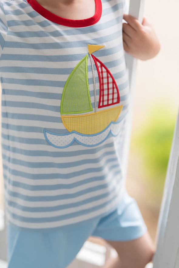 Norman Knit Sailboat Set
