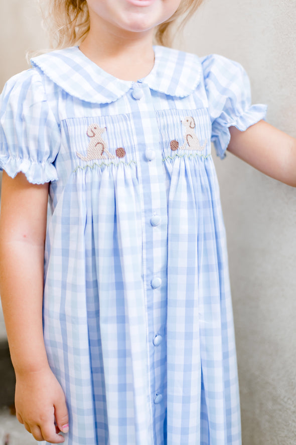 Pup Smocked Dress