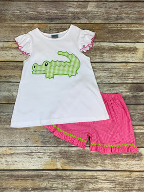 Girly Gator Short Set