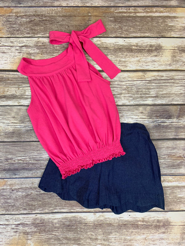 Taylor Short Set-Pink Top