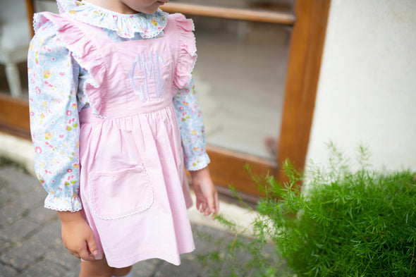 Betsy Pink Cord Pocket Dress and Shirt