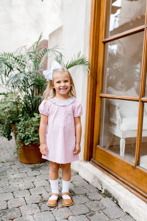Betsy Bow Pink Cord Dress
