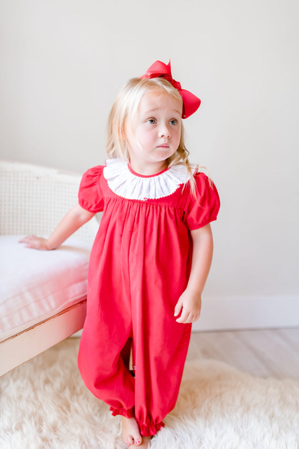 Sydney Red Cord Ruffle Collar Bubble