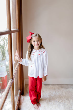 Santa Applique Girl Set