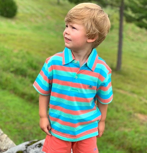Opal, Turquoise and Seafoam Boys Polo Party