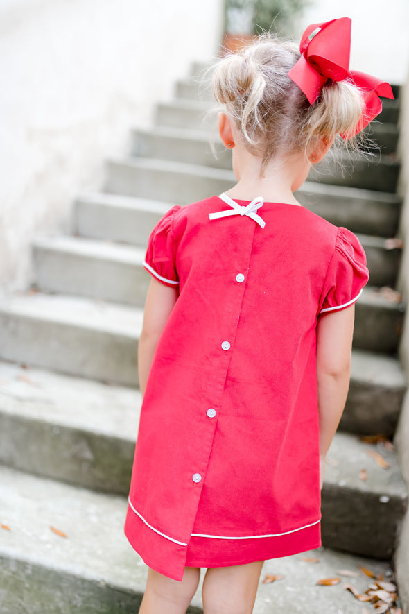 Sydney Red Cord Scallop Dress