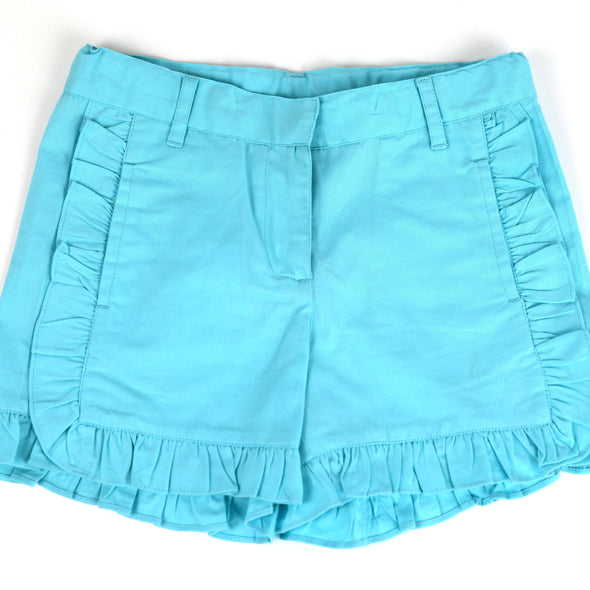 Polly Play Turquoise Ruffle Shorts