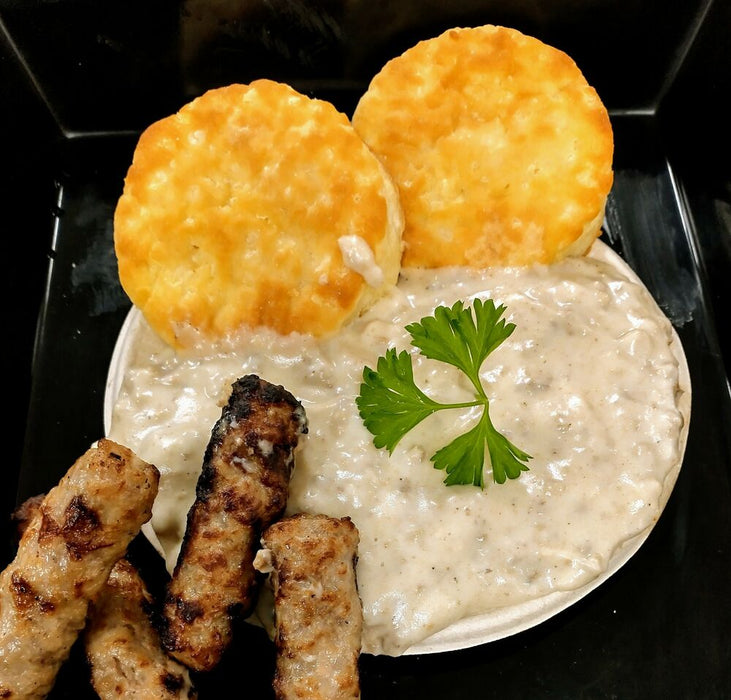Biscuits, Sausage Links, & Gravy