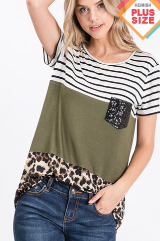 HEM106 - CURVY COLOR BLOCK TOP