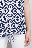 NAVY TRIBAL PRINT TOP - 12A2342
