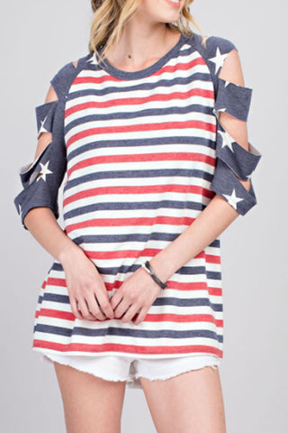 STRIPED FLAG TOP - 143TK6997A