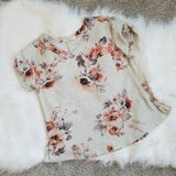 GIRLS FLORAL VNECK TOP - 12T7993