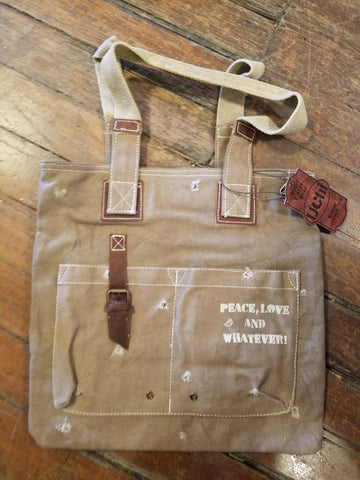 HOLE PUNCH SHOULDER TOTE - SNSUC120