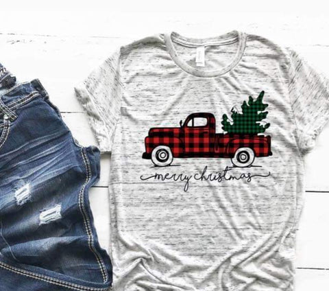 CHRISTMAS TRUCK TEE - GRAPHIC TEE