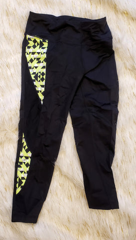 AIKO - NEON YELLOW WORKOUT CAPRIS