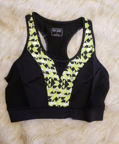 AIMI - NEON YELLOW WORKOUT BRA