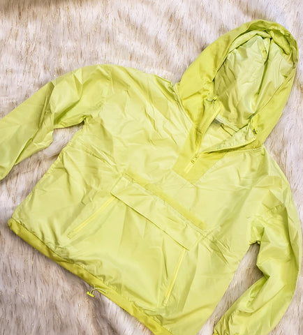AINE - NEON YELLOW PULLOVER JACKET