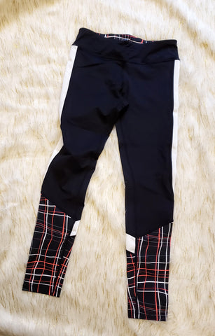 AKIA - CORAL PLAID WORKOUT LEGGINGS