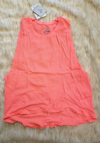 AKAY - NEON CORAL MUSCLE TANK