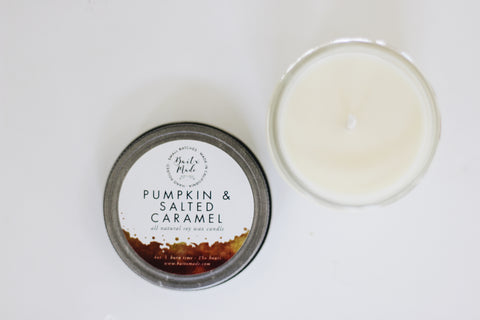 Baitx Made - Pumpkin & Salted Caramel Candle, 4oz