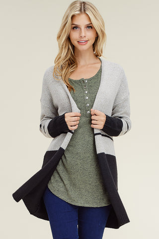 SUE - COLOR BLOCK CARDIGAN