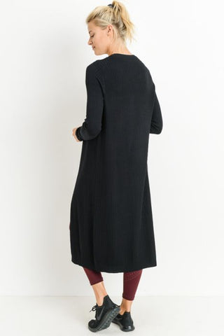 SKYA - LONG BLACK CARDIGAN
