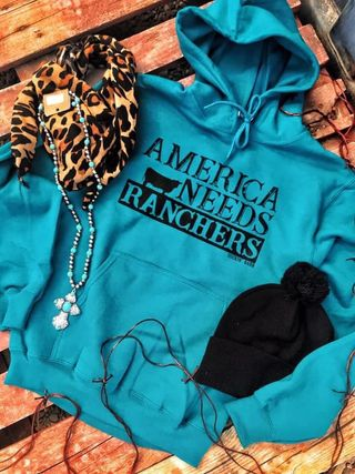 AMERICA NEEDS RANCHERS - GRAPHIC HOODIE