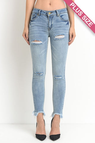 ARLO - CURVY DISTRESSED SKINNY JEANS