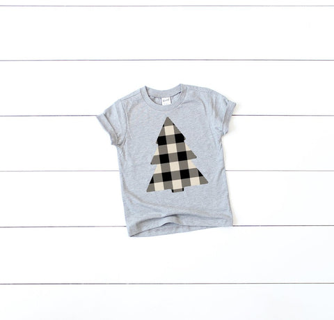 KIDS BUFFALO PLAID TREE TEE