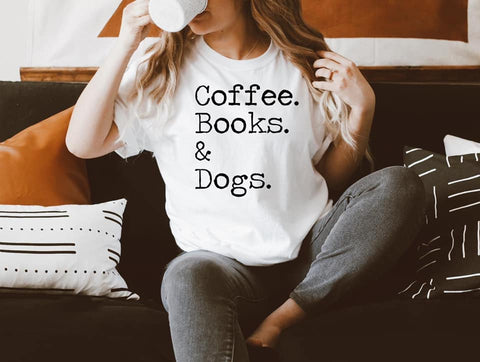 COFFEE.BOOKS.DOGS - GRAPHIC TEE