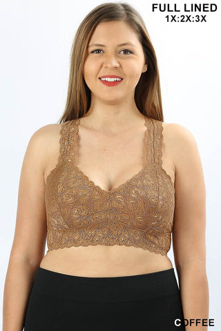 PLUS LACE BRALETTE - ZELT-6310X