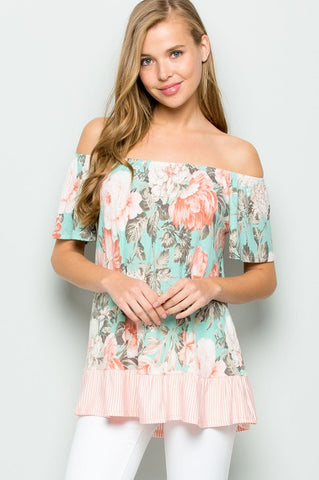 RUFFLE TRIM TOP - EETJ51485