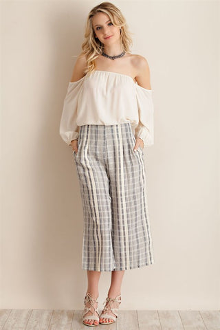 Plaid culotte pants - ENP4027