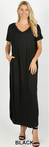FAITH CURVY - VNECK MAXI DRESS PLUS