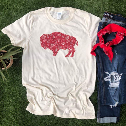 BANDANA BUFFALO - GRAPHIC TEE