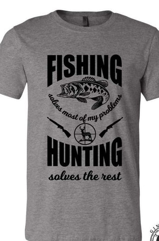 FISHING & HUNTING - GRAPHIC TEE